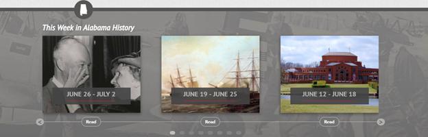 Alabama Bicentennial website feature