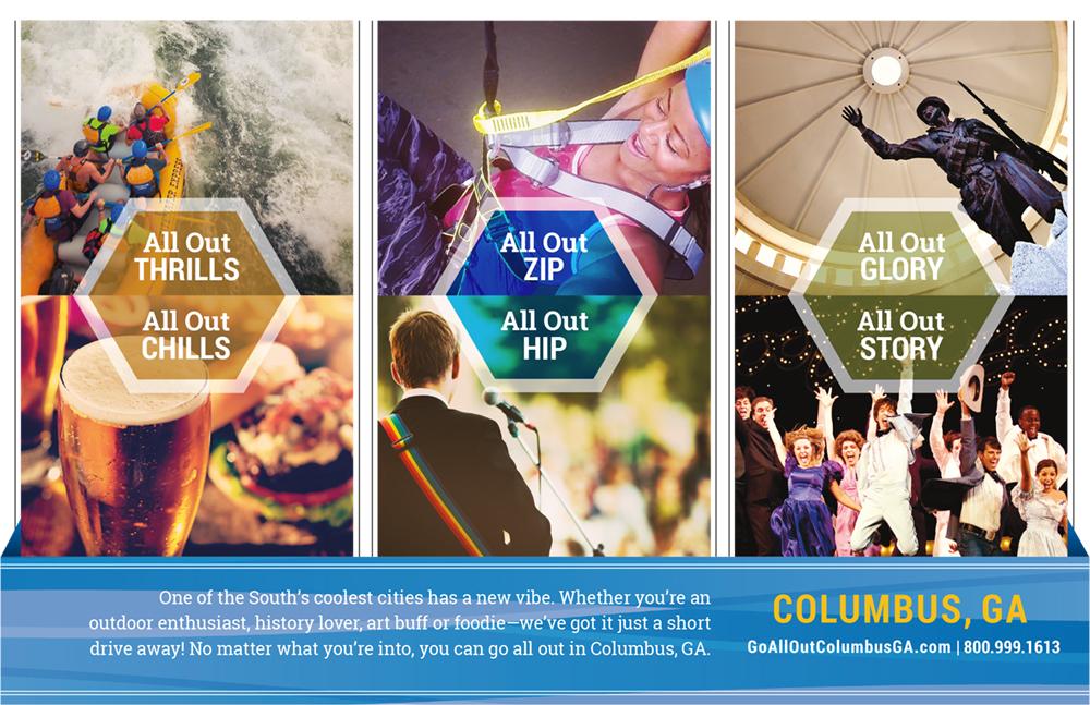 Ad for the Columbus, Georgia CVB.