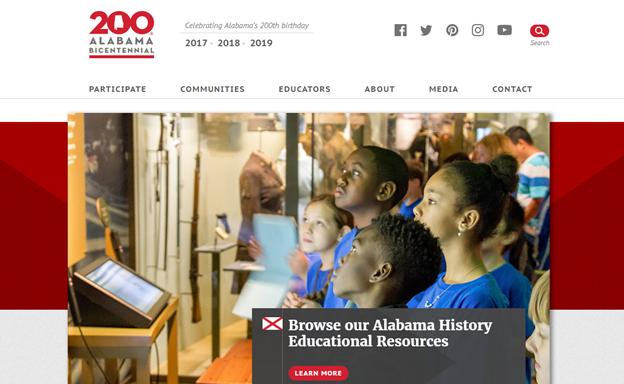 Alabama Bicentennial website